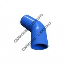 "2.25"" 45 Deg Blue Silicon Hose Coupler For Turbo Intercooler Pipe"