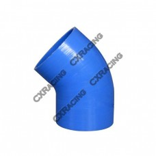 "2.5"" Silicone Hose 45 Degree Elbow Coupler 65mm Turbo Silicon Blue"