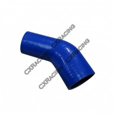 """2.5"""" to 1.75 Inch Blue Silicon Hose Reducer 45 Degree Elbow Coupler"""