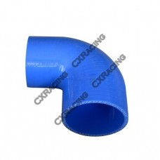 "2.5"" - 2"" 90 Degree Blue Silicon Hose Reducer Elbow For Intercooler Pipe, 85mm Long"