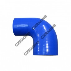 """2.75"""" to 2.25 Inch Blue Silicon Hose Reducer 90 Degree Elbow Coupler"""