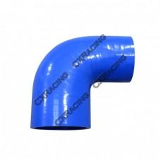 """2.75"""" - 2.35"""" 90 Deg Blue Silicon Hose Reducer Coupler Elbow Intercooler Pipe"""
