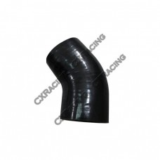 "3"" to 3 inch 45 Degree Black Silicone Reducer Elbow Hose Coupler 2.5"" Long"