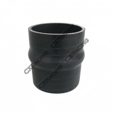 "3"" Black Hump Silicon Hose Coupler For Intercooler Pipe"