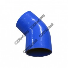 """2.75"""" to 2.60 Inch Blue Silicon Hose Reducer 45 Degree Elbow Coupler"""