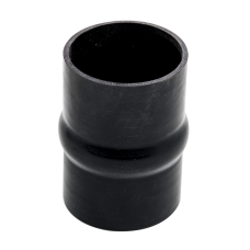 """Universal 4"""" Black Straight Hump Silicon Hose Coupler 6"""" Long For Intercooler"""
