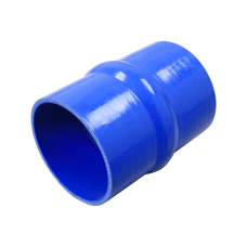 """Universal 4"""" Blue Straight Hump Silicon Hose Coupler 6"""" Long For Intercooler"""